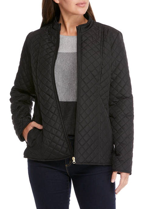 Kim Rogers® Womens Long Sleeve Puffer Jacket