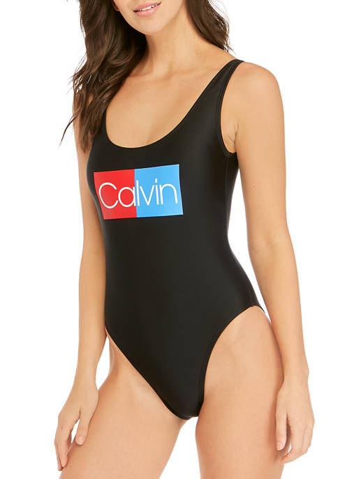 Calvin Klein Deep U Back One Piece Swimsuit