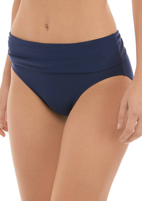 Crown & Ivy™ Fold Over Hipster Swim Bottoms
