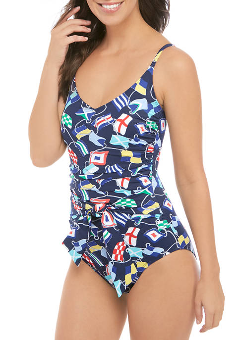 Sea Rope One Piece Swimsuit with Sash