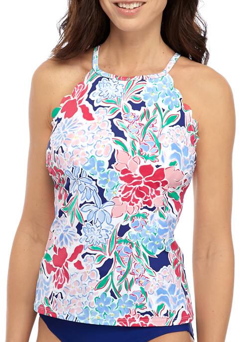 Crown & Ivy™ Bouquet Sway High Neck Swim
