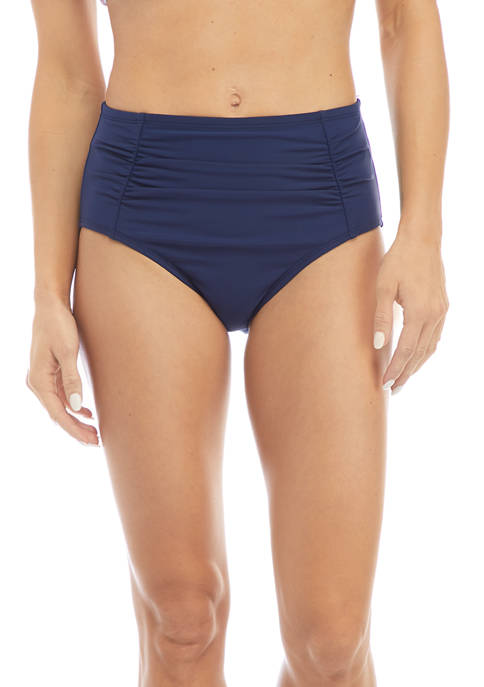 Crown & Ivy™ Side Ruched High Waisted Swim