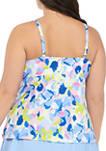 Plus Size Work of Art Tankini Swim Top