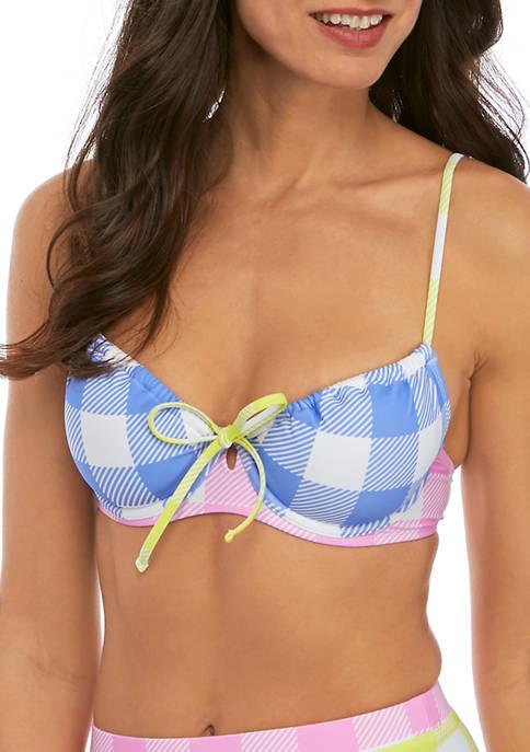 Check It Out Adjustable Coverage Demi Bikini Bra