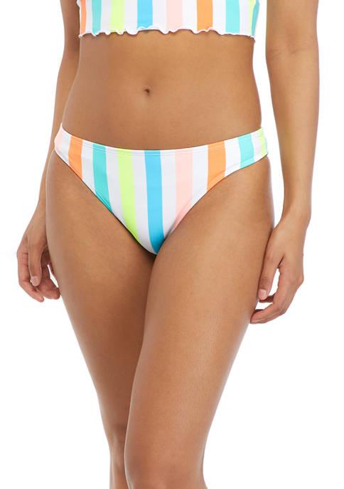 Striped Hipster Swim Bottoms