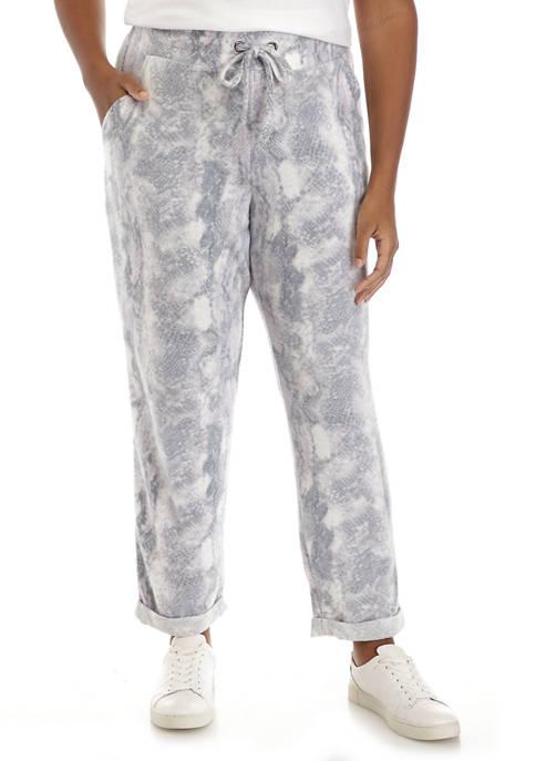Adyson Parker Plus Size Printed Tie Waist Pajama