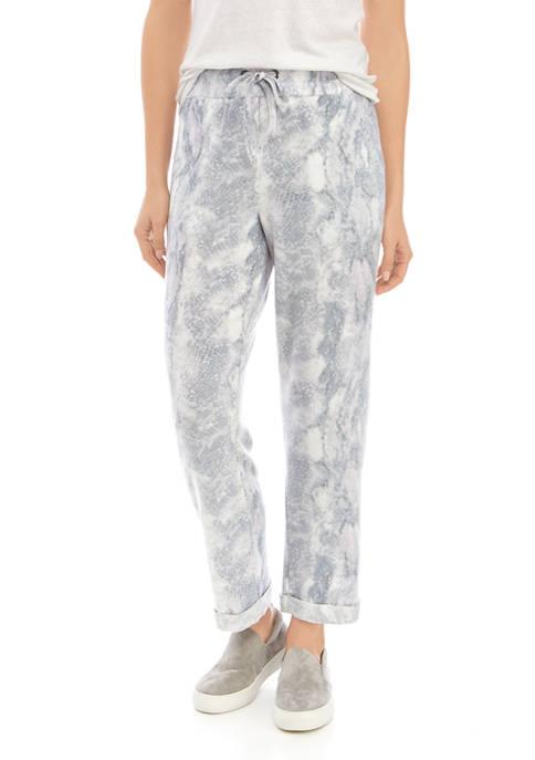 AD Adyson Parker Womens Print Tie Waist Pants