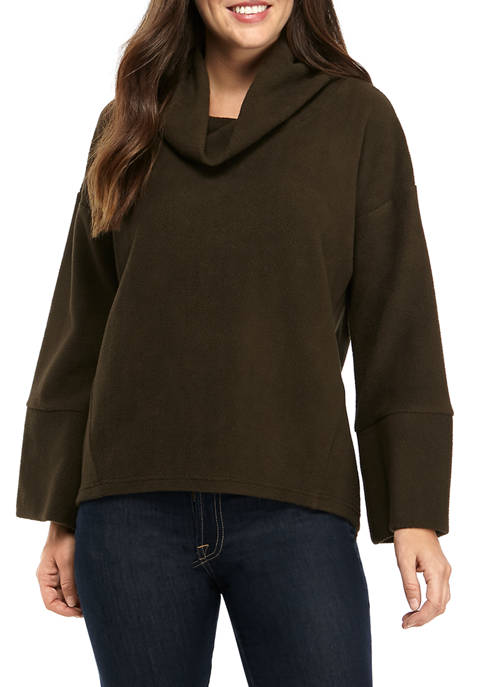 AD Adyson Parker Womens Suede Cowl Neck Pullover
