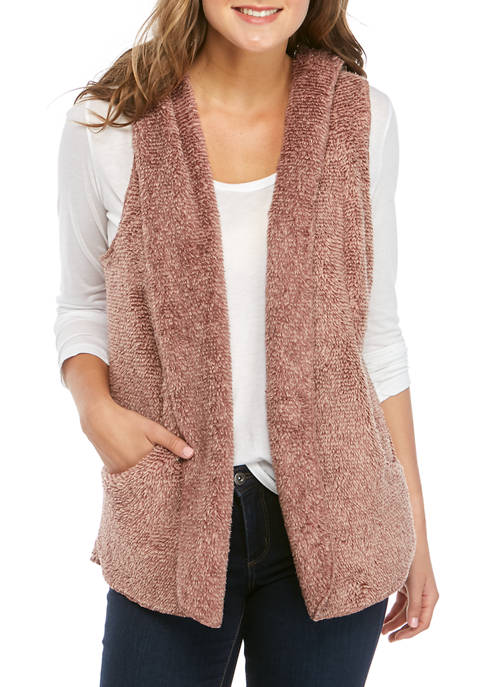 Womens Furry Vest