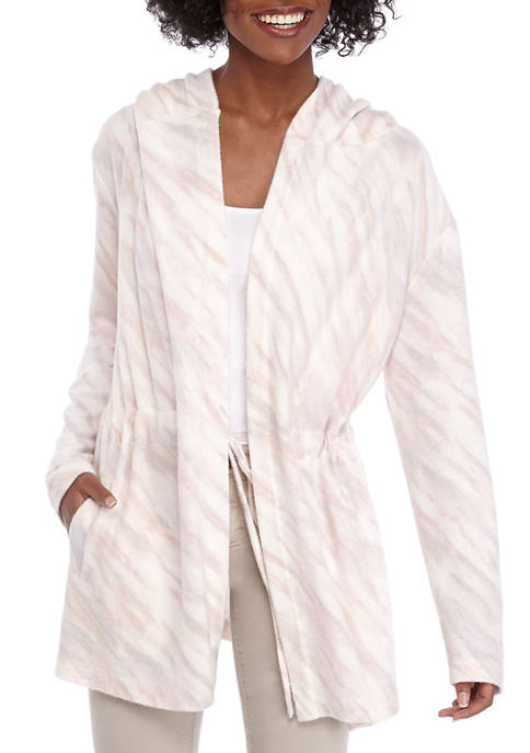 AP by Adyson Parker Womens Marble Hoodie Cardigan