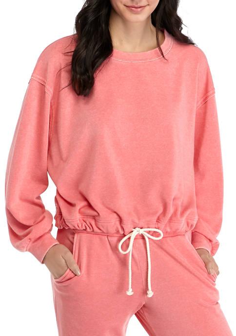 Adyson Parker Womens Tie Hem Sweatshirt