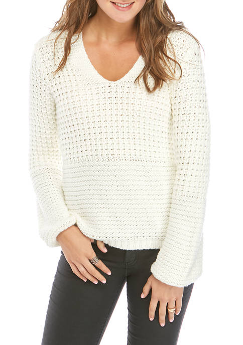 AD Adyson Parker Womens Loop V Neck Sweater