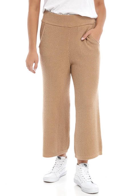 Womens Suit Separate Waffle Culottes