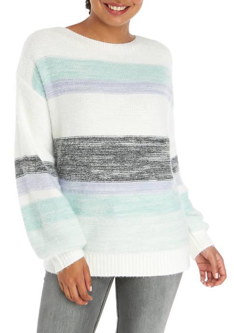 AP by Adyson Parker Womens Multi Stripe Sweater