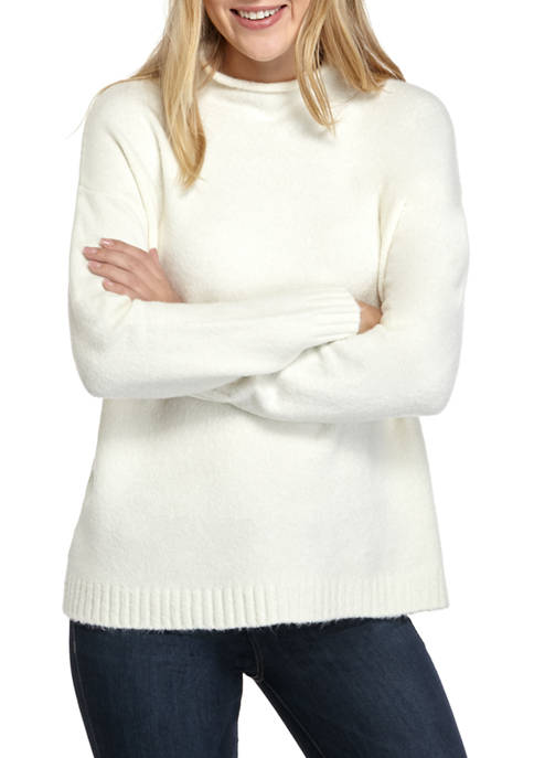 AD Adyson Parker Womens Solid Funnel Neck Sweater