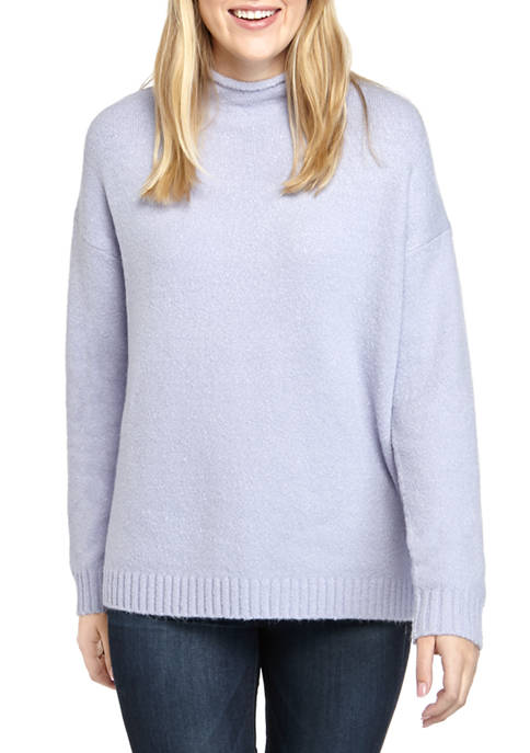 AP by Adyson Parker Womens Solid Funnel Neck