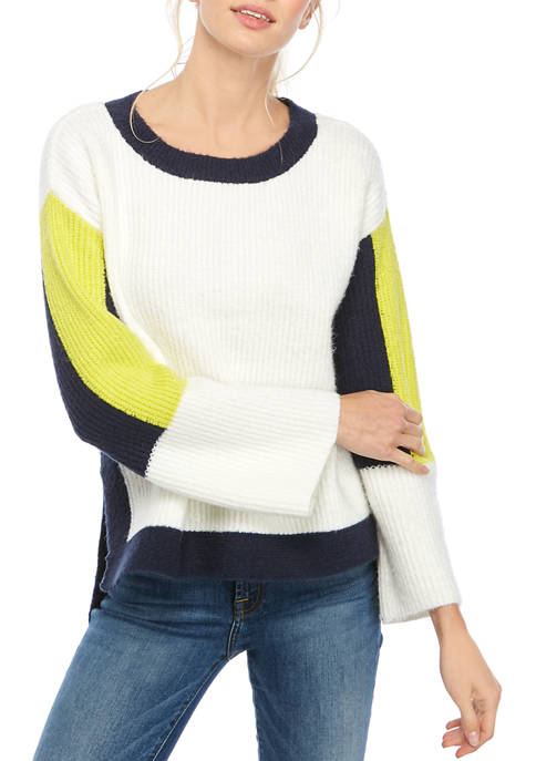 AP by Adyson Parker Womens Color Block Crew