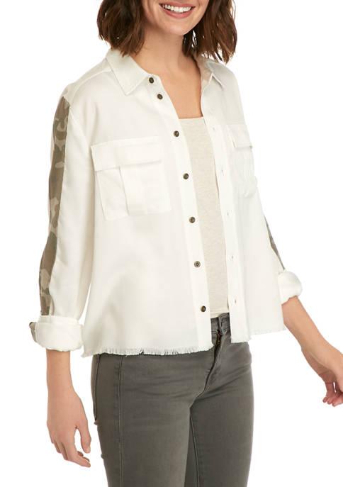 Adyson Parker Womens Camouflage Trim Jacket