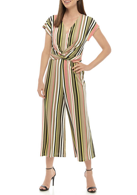Womens Cropped Wide Leg Jumpsuit