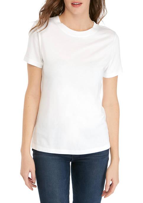 Womens Short Sleeve Knit T-Shirt