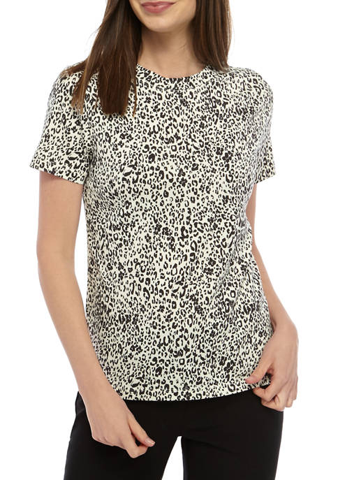 Womens Short Sleeve Modal Printed T-Shirt
