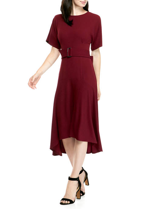 THE LIMITED Womens Belted Mini Dress
