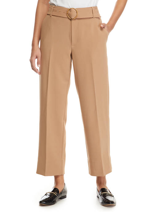 THE LIMITED Womens Belted Wide Leg Pants