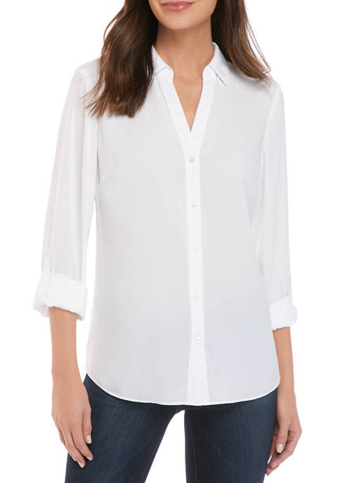Womens Ashton Roll Tab Sleeve Top