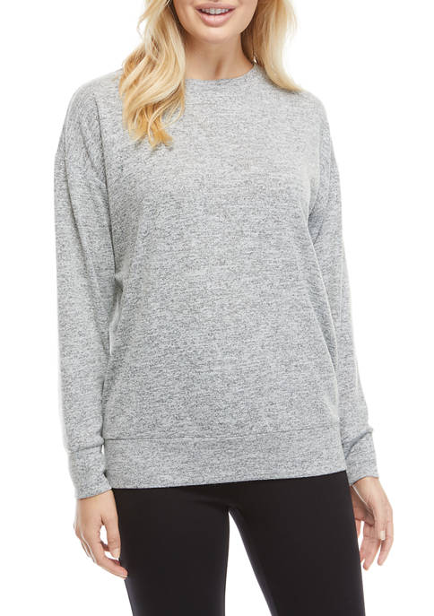 THE LIMITED LIMITLESS Womens Long Sleeve Banded Bottom
