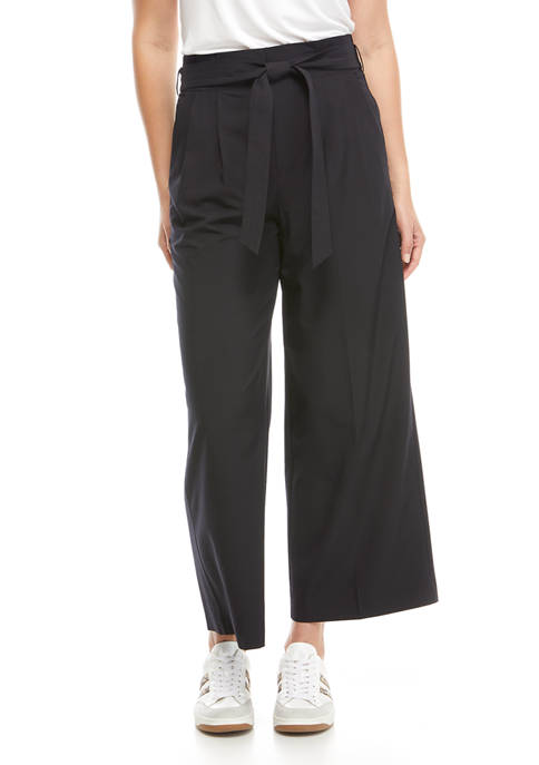 THE LIMITED LIMITLESS Womens Tie Waist Ankle Wide