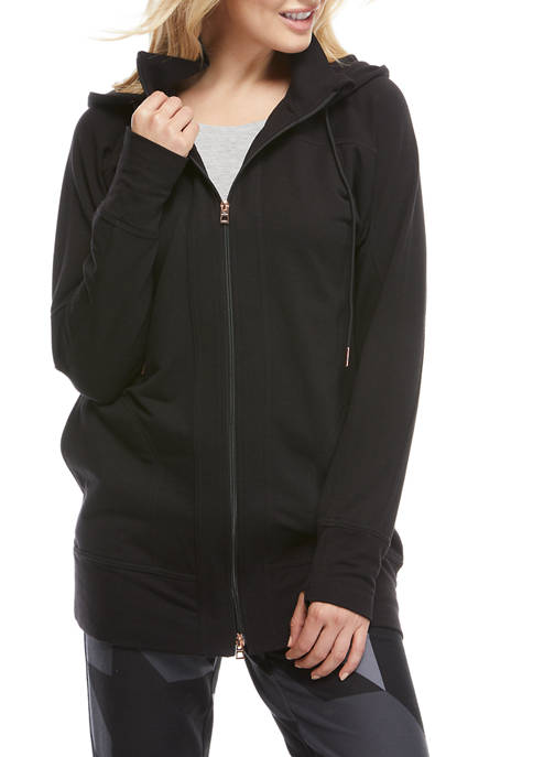 THE LIMITED LIMITLESS Womens Hooded Zip Front Jacket