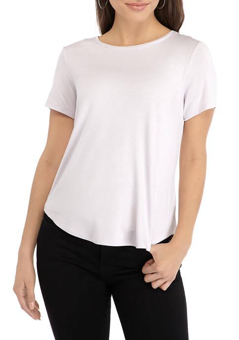 Womens Short Sleeve Solid T-Shirt