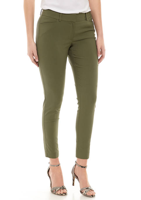 Womens Signature Solid Ankle Pants