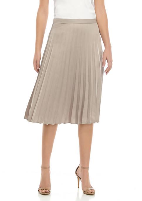 Womens Satin Pleat Skirt