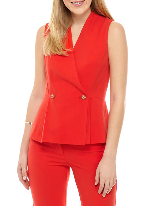 Womens Double Breasted Vest