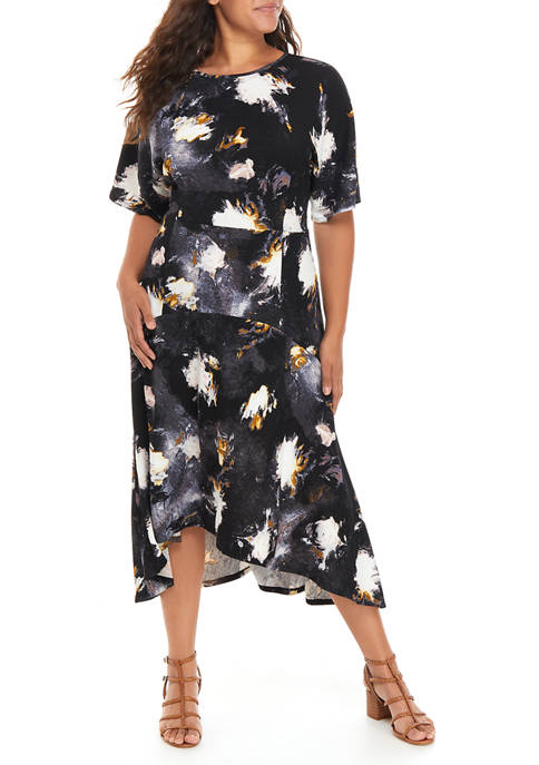 THE LIMITED Plus Size Belted Midi Dress
