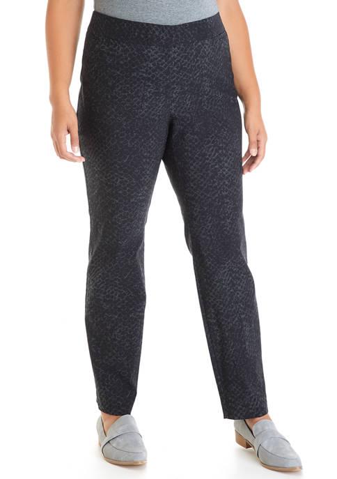 Plus Size Skinny Printed Pants