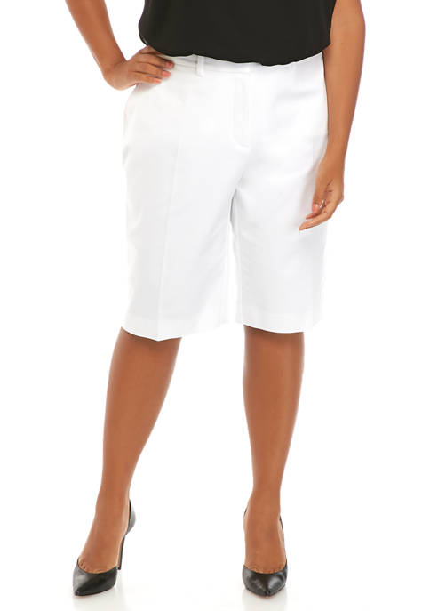 Plus Size Polished Bermuda Shorts