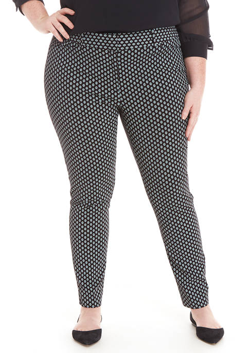 Plus Size Signature Ankle Printed Pants
