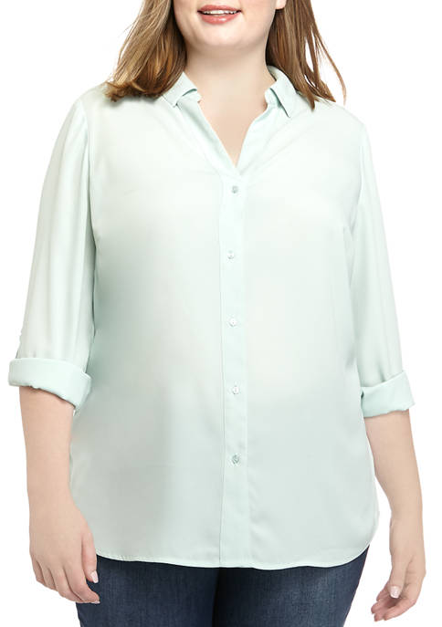 THE LIMITED Plus Size Solid Ashton Top