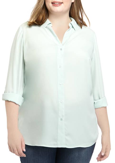 Plus Size Solid Ashton Top