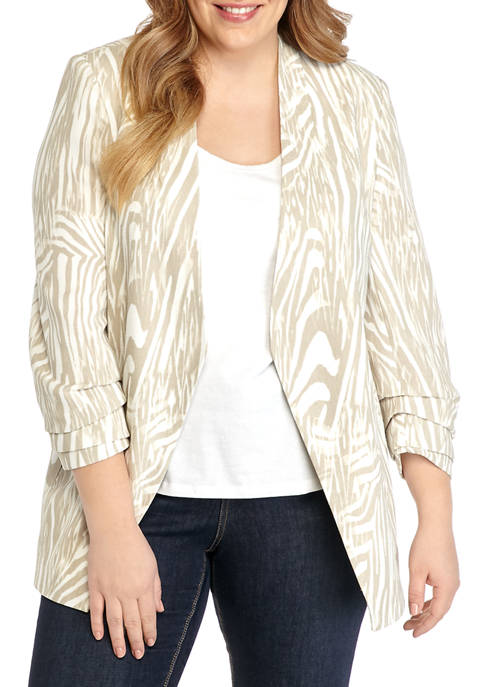 THE LIMITED Plus Size Fashion Printed Blazer