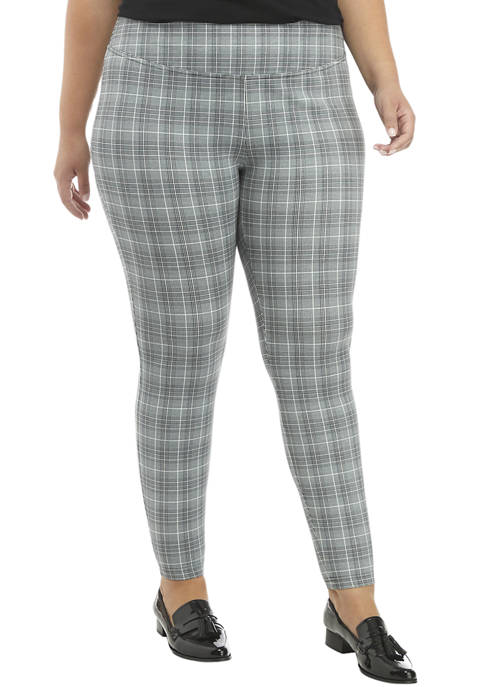 THE LIMITED Plus Size Plaid High Waisted Leggings