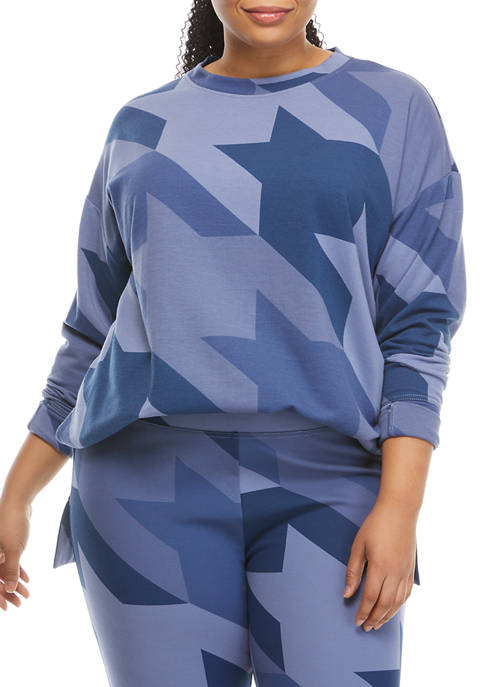 THE LIMITED LIMITLESS Plus Size Printed Tunic Sweatshirt