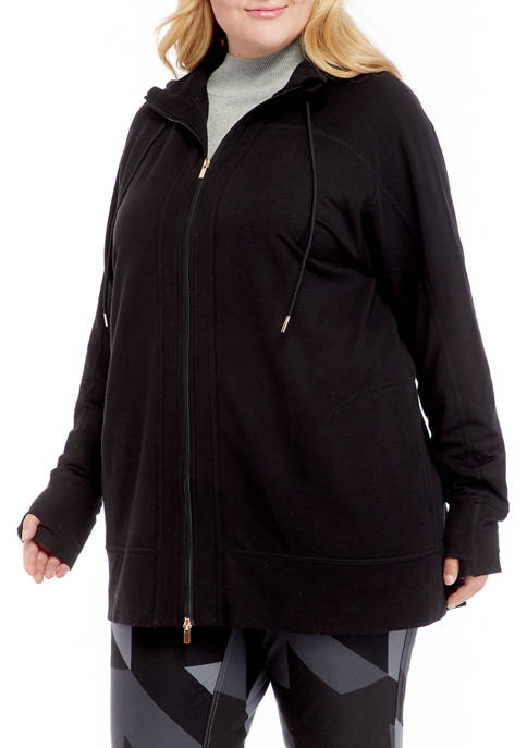 THE LIMITED LIMITLESS Plus Size Zip Front Hoodie