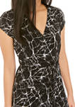 Petite Short Sleeve Wrap Dress