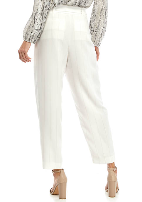THE LIMITED Petite Tapered Yarn Dye Pants