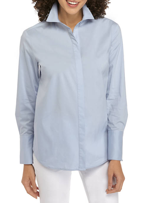 THE LIMITED Petite Long Sleeve Button Down Shirt