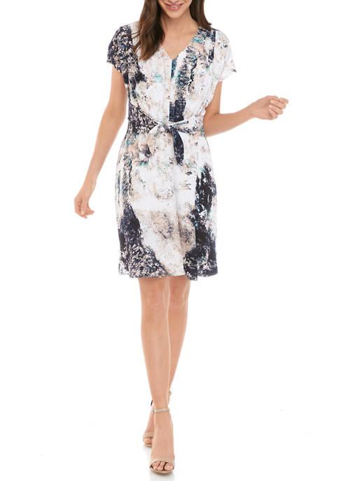 Petite Pleat Front Dress