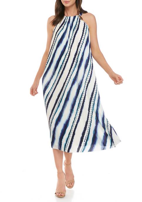 THE LIMITED Petite Pleated Halter Midi Dress